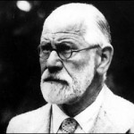 Black and white photo of Sigmund Freud as an older man
