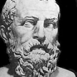 Photo of an ancient bust of the Greek sage Solon