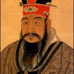 Color illustration of the Chinese sage Confucius