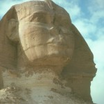 Color photo of the Egyptian sphinx