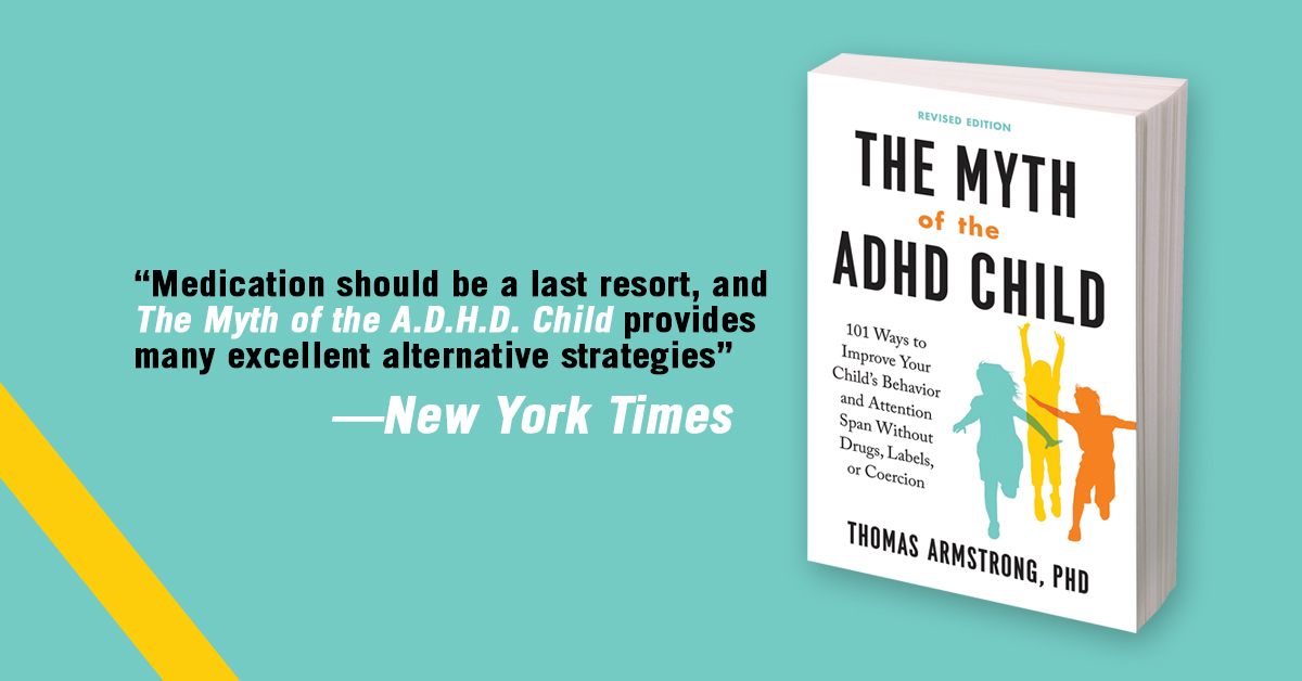 Ad for book The Myth of the ADHD Child with blurb from New York Times