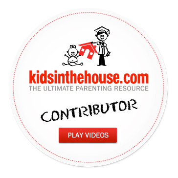 Logo for kidsinthehouse.com, a parenting site with 9,000 videos